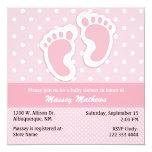 Fiesta de bienvenida al bebé rosada y blanca anuncio personalizado