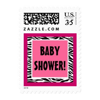 Fiesta de bienvenida al bebé rosada y negra G200 Sello