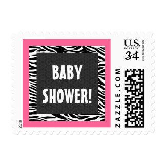 Fiesta de bienvenida al bebé rosada y negra G203 d