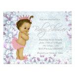 Fiesta de bienvenida al bebé rosada y púrpura ador
