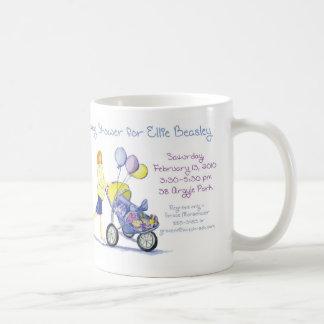 fiesta de bienvenida al bebé taza de café