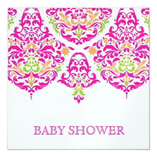 Fiesta de bienvenida al bebé vibrante del jardín invitación 13,3 cm x 13,3cm