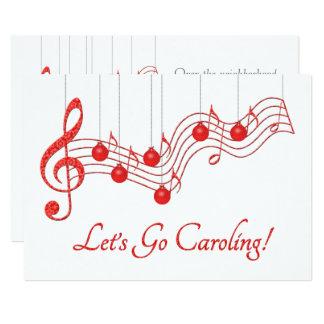 """Fiesta de Caroling del navidad Invitación 5"""" X 7"""""""