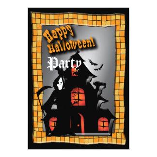 "Fiesta de casa encantada de Halloween Invitación 5"" X 7"""