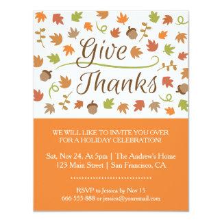 Fiesta de cena de la acción de gracias de las invitacion personalizada