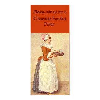"""FIESTA DE CENA DE LA """"FONDUE"""" DE CHOCOLATE INVITACIÓN PERSONALIZADA"""