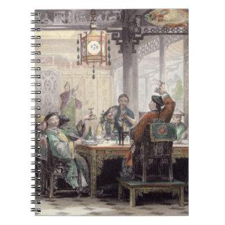 Fiesta de cena en la casa de un mandarín, de 'Chin Libreta