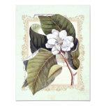 Fiesta de cena formal de la magnolia blanca invitación 10,8 x 13,9 cm