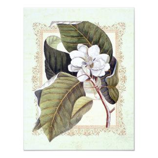 """Fiesta de cena formal de la magnolia blanca invitación 4.25"""" x 5.5"""""""