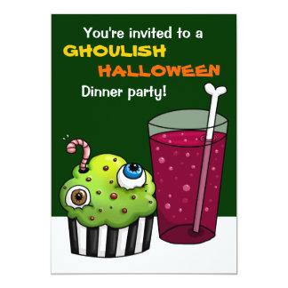 Fiesta de cena horrible de Halloween Invitación Personalizada
