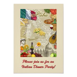 Fiesta de cena italiano invitación 12,7 x 17,8 cm