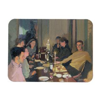 Fiesta de cena rectangle magnet