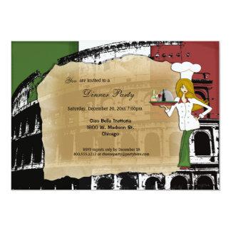 Fiesta de cena romano del coliseo invitación 12,7 x 17,8 cm