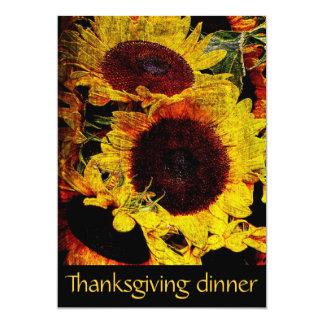 """fiesta de cena rústico de la acción de gracias de invitación 5"""" x 7"""""""
