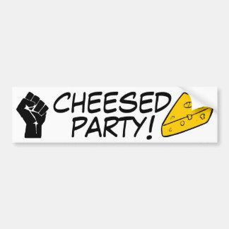 Fiesta de Cheesed Pegatina Para Auto