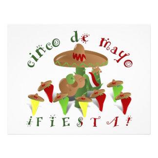 """¡Fiesta de Cinco De Mayo! (Añada el color de Folleto 8.5"""" X 11"""""""