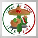 ¡Fiesta de Cinco De Mayo!  Cactus con el sombrero Impresiones