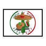 ¡Fiesta de Cinco De Mayo!  Cactus con el sombrero Tarjetas De Visita Grandes