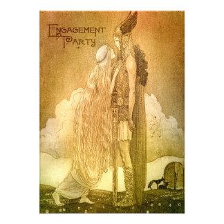 Fiesta de compromiso de la mitología de los nórdis invitacion personalizada