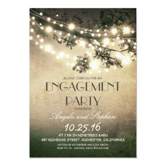 fiesta de compromiso de las ramas de árbol y de invitación 12,7 x 17,8 cm