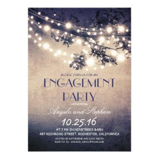 fiesta de compromiso de las ramas de árbol y de invitaciones personales