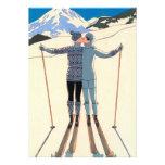 Fiesta de compromiso de los esquís del beso del am comunicado personal