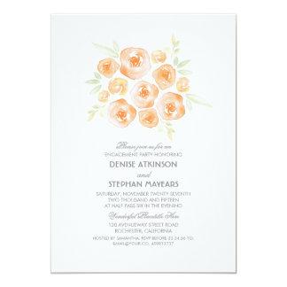 """Fiesta de compromiso de los rosas del ramo floral invitación 5"""" x 7"""""""