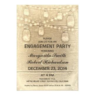 fiesta de compromiso elegante rústico de los tarro comunicados personales