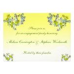 Fiesta de compromiso floral amarillo anuncios