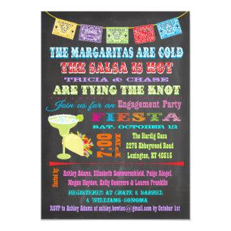 Fiesta de compromiso mexicano de la fiesta de la comunicados personalizados