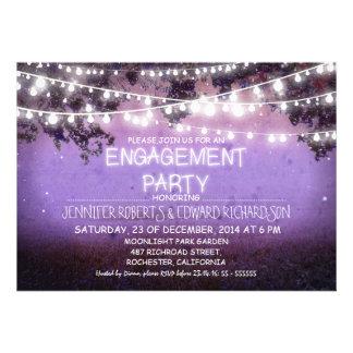 fiesta de compromiso púrpura de las luces de la no invitacion personal