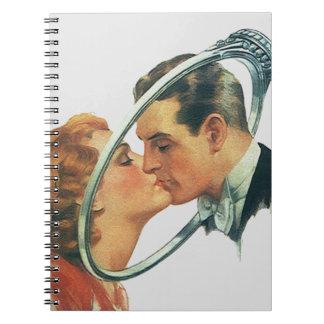 Fiesta de compromiso retro del libro de visitas cuadernos