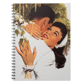 Fiesta de compromiso retro del libro de visitas note book