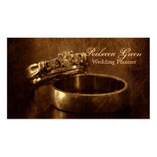 fiesta de compromiso rústico de los anillos de tarjetas de visita
