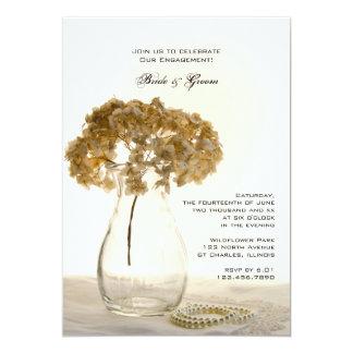 Fiesta de compromiso secado de los Hydrangeas Invitación 12,7 X 17,8 Cm