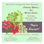 Fiesta de compromiso tropical floral del boda del  comunicados
