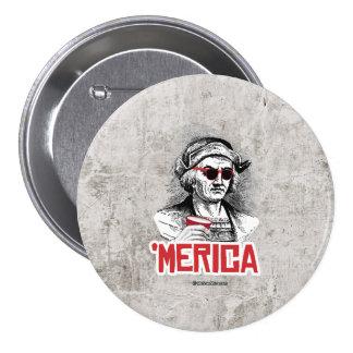 Fiesta de Cristóbal Colón 'Merican Pin Redondo 7 Cm
