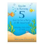 fiesta de cumpleaños a pescado del acuario lindo