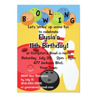 Fiesta de cumpleaños adaptable de los bolos invitación 12,7 x 17,8 cm