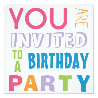 Fiesta de cumpleaños adolescente del tween de los invitación 13,3 cm x 13,3cm
