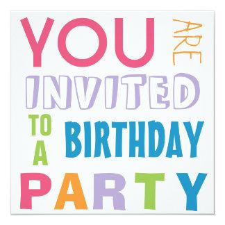"""Fiesta de cumpleaños adolescente del tween de los invitación 5.25"""" x 5.25"""""""