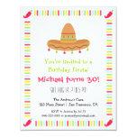 Fiesta de cumpleaños adulta de la fiesta mexicana invitación 10,8 x 13,9 cm
