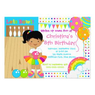 Fiesta de cumpleaños afroamericana de los bolos de
