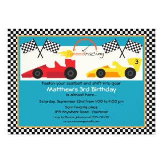 Fiesta de cumpleaños amarilla y roja del coche de comunicado