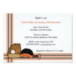 Fiesta de cumpleaños anaranjada y negra de la invitación personalizada