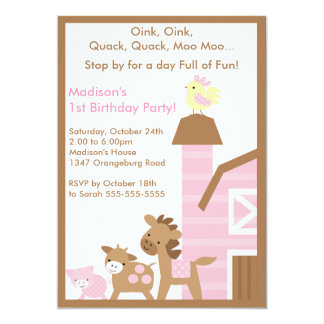 Fiesta de cumpleaños animal de la diversión del anuncio