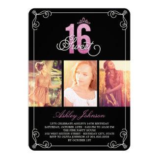 Fiesta de cumpleaños atractiva de la foto del invitaciones personalizada