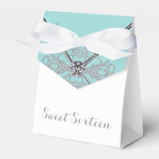 Fiesta de cumpleaños azul del dulce 16 del trullo cajas para detalles de boda