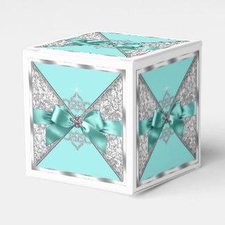 Fiesta de cumpleaños azul del dulce 16 del trullo caja para regalos