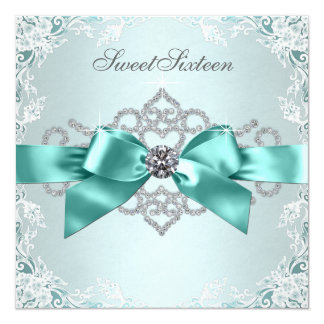 Fiesta de cumpleaños azul del dulce 16 del trullo invitación personalizada